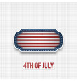 american national flag colors in patriotic banner vector image