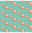 Happy Santa Claus green mint festive pattern vector image