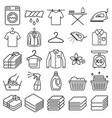 laundry service icons vector image