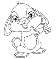 outlined bunny vector image