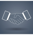 Shake hand line icon vector image