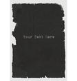 sheet of black torn paper vector image
