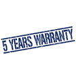 5 years warranty stamp vector image