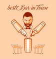 Best bar in town ad vector image vector image