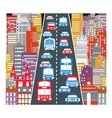 Automobile traffic vector image vector image