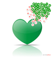 Heart with cloud of Christmas application vector image