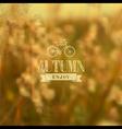 Autumn vintage blurred background vector image