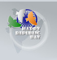congratulation happy republic day indian holiday vector image