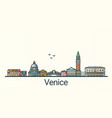 flat line venice banner vector image