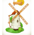 Mill Windmill 3d icon vector image