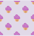 party cake food dessert sweet cream seamless vector image