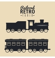 railroad train isolated icon design vector image