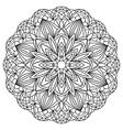 Simple geometric mandala vector image