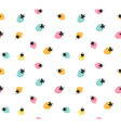 colorful strawberry background Seamless pattern of vector image