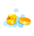 icon duck rubber vector image