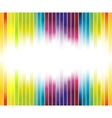 colorful rainbow advertisement vector image vector image