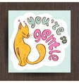 I love you card greetings with cute animals vector image