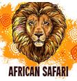 african lion poster safari hunting poster vector image