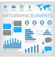 blue and gray infographic elements vector image
