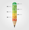 Education pencil Infographic design template vector image