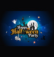 halloween character and lettering element design vector image