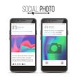 photo frame social network photo frame on vector image
