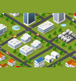 the urban landscape vector image