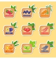 Jam Label Sticker Collection Of Templates In vector image