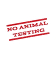 No Animal Testing Watermark Stamp vector image