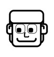 face man cartoon vector image
