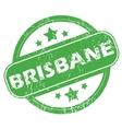 Brisbane green stamp vector image
