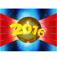 Disco ball 2016 on 3D environment vector image vector image