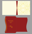 Floral Square Invitation with Envelope vector image