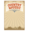 Country music festival background with american vector image