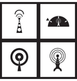 Concept flat icons in black and white Wi fi modem vector image