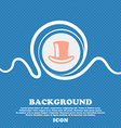 cylinder hat sign icon Blue and white abstract vector image