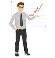businessman giving presentation vector image