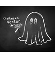 Chalkboard drawing of ghost vector image