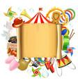 Circus Placard vector image
