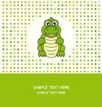 Fun card animal vector image