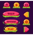 Game Buttons with nature elements vector image