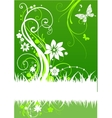 green abstract design vector image