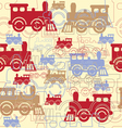 seamless background with steam locomotives vector image
