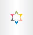 teamwork business icon colorful symbol design vector image