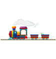 Train riding on the track vector image vector image