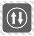 Vertical Flip Arrows Rounded Square Button vector image