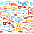 Ink of underwater life and fish vector image
