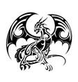 dragon tattoo design vector image