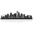 Seattle USA city skyline silhouette Vector Image