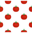 red half of tomato pattern flat vector image